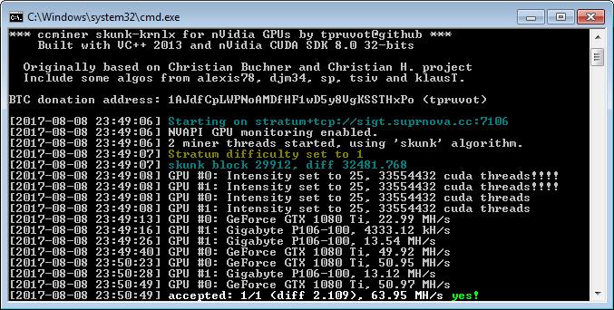 Nowy górnik CCminer z lepszymi wynikami kopania SkunkHash - pobierz za darmo!