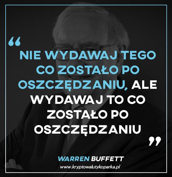 Warren Buffett oszczędności