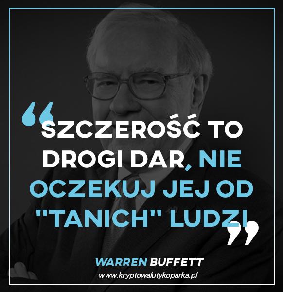Warren Buffett szczerość