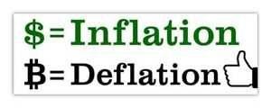 kłamstwa na temat bitcoina - deflacja